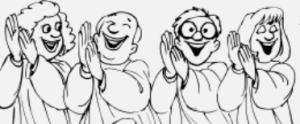 choir smiling
